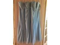David's Bridal strapless capri blue bridesmaid dresses brand new