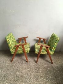 Spectacular Polish Inspired Mid-Century Vintage Easy Chairs Timber Frame