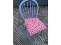 Grey shabby chic chair