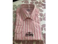 Savile Row pink stripy shirt