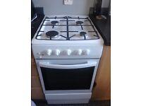 """White Essentials 50"""" Wide Gas Cooker"""