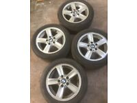BMW 16 inch alloy wheels suitable for fitting with winter tyres. Came from a BMW 120SE