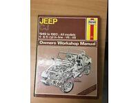 Haynes Owners Workshop Manual Jeep CJ 1949 - 1983