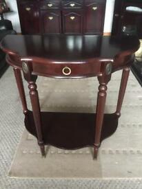 Mahogany telephone table with drawer