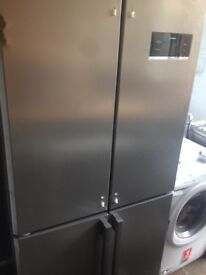 Silver American fridge freezer.....4doors. Very Cheap