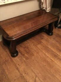 Coffee table and lamp table excellent condition cost £300 each when new they are dark ok