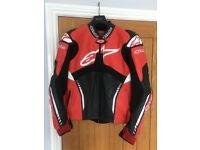 Alpinestars Atem Leather Jacket (Size Euro 54)