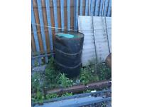 Used oil drum burning bin