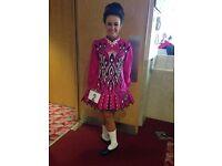 Irish Dance Dress by Siopa Rince. Cerise pink