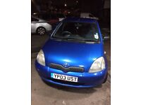 Toyota Yaris 1.0 blue in a very good condition
