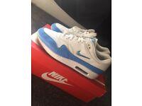 Air Max 1 Jewel White/Blue 10UK