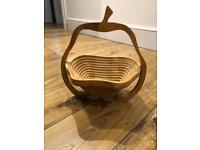 Apple wood fruit bowl
