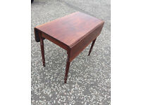 Mahogany Pembroke Leaf Table , in good condition . Size L 36in D 20in ( Sides are 9in each )