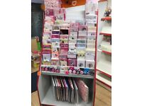 Card and gift wrap retail stand