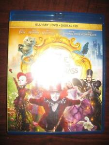 Alice Through The Looking Glass (Blu Ray DVD + Digital HD) Kids Family Movie Film. Starring Mia Wasikowska, Johnny Depp
