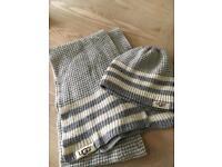 Ugg hat and scarf set BRANd NEW Grey stripe girl xmas present
