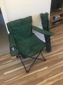 2 fold up camping seats