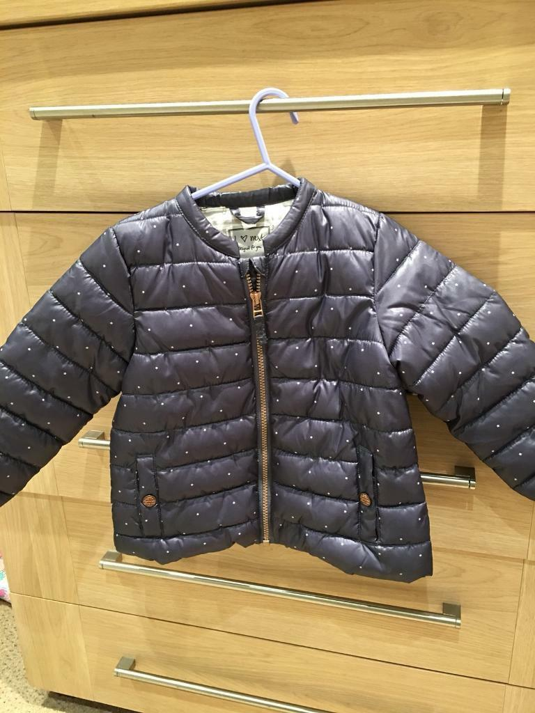 NEXT girls navy jacket( Immaculate)Age 3/4 years