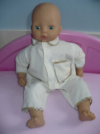 Zapf Creation Baby Annabell 18inch Interactive Doll. Moves head & arms, burps, sucking & baby sounds