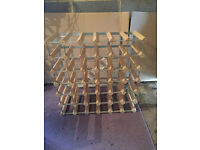 Wooden Wine Rack for upto 36 Bottles - Freestanding or Wall Mounted