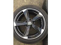 Vw transporter alloy wheels x5 t5 18 inch