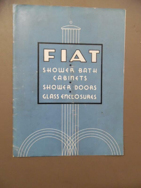 c.1940 Fiat Metal Mfg Co Shower Cabinet Glass Bathroom Architectural Catalog OLD