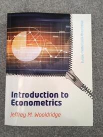 Introduction to econometrics book by Jeffrey M. Wooldridge