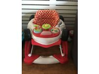 Mothercare Red car baby walker