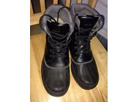 Aldo £119 Men's Egnus Winter Boots Size 10/43 Black Leather Grey Waterproof/ Thinsulate almost new!!