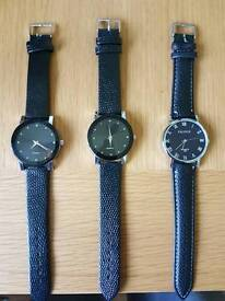 3 brand new watches
