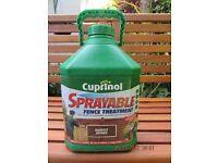 cuprinol sprayable fence treatment Harvest Brown