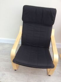 Ikea poang arm chairs x2