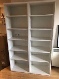 Large, white, Ikea shelving unit / bookcase