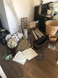 House clearence: picture, wine rack, basket, pendant and more