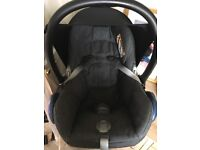 Maxi Cosi Cabriofix Car Seat with Extra Cover in Robin Red.