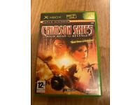 XBOX CRIMSON SKIES. HIGH ROAD TO REVENGE GAME. ORIGINAL XBOX