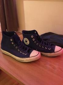 Converse All Star Hi - Blue - Size 8