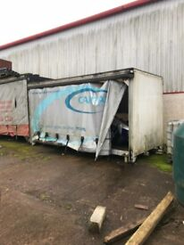 Storage containers and loading ramp for sale all shapes and sizes