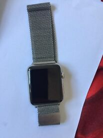 Apple Watch series 2 - smart watch with heart eat monitor. Silver/Milanese loop