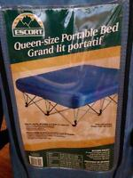QUEEN SIZE BLOW UP BED WITH FRAME