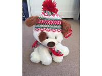 Winter Dog Soft Toy ~ New! With Tags!