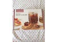 Set of 12 small jam jars (no lids)