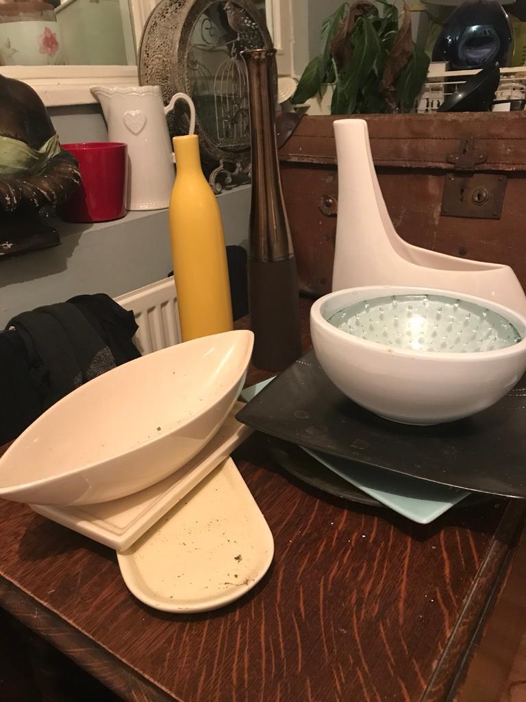 Ceramic vases and plates