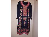 Indian Pakistani Designer New Dress with Tilla embroidery beautiful work Wedding full Dress