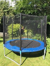8FT Trampoline with rain cover and ladder - only 2 years old - great condition