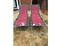 2 Sun Loungers for sale