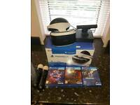 PlayStation VR with camera and controllers