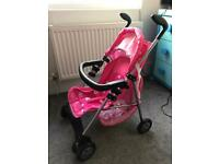 Mamas & Papas Dolls Stroller Buggy Plus Baby Carrier & Changing Bag With Accessories