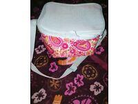 Paisley Pink and green cooling picnic bag