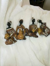 4 resin African ladies